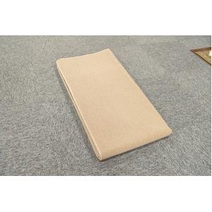 カーペット ラグ 平織 フリーカット ループ / 本間 2畳 191×191cm ベージュ プレーン