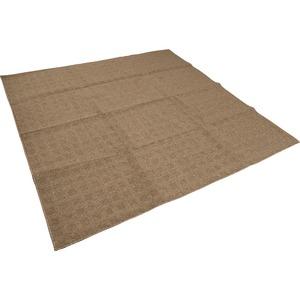 カーペット ラグ 平織 レベルループ / 約2.2畳 200×200cm ブラウン クロス