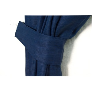 カーテン 2枚組 2枚セット 2P 防炎 2級遮光 100×丈100cm ネイビー アール