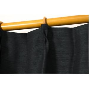 カーテン 2枚組 2枚セット 2P 防炎 2級遮光 100×丈135cm ブラック アール