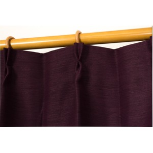 カーテン 2枚組 2枚セット 2P 防炎 2級遮光 100×丈178cm ワインレッド アール