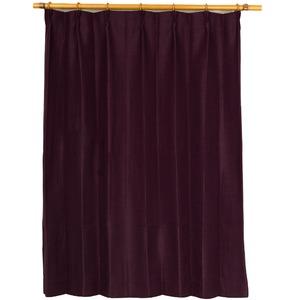 カーテン 洗える ウォッシャブル 洗える 防炎 2級遮光 150×丈225cm ワインレッド アール