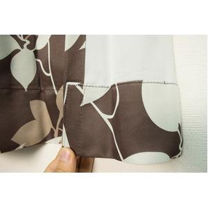 カーテン 2枚組 2枚セット 2P 防炎 2級遮光 100×丈225cm ブラウン パルク