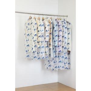 ティッシュ式洋服カバー50枚セット(キャットフラワー柄)