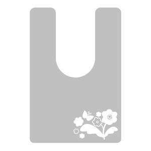 拭けるトイレマット 耳長タイプ (バタフライ×フラワー柄)