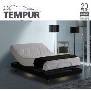 TEMPUR モダンスタイリッシュな電動リクライニングベッド ダブル 【ベッドフレームのみ】 ブラック 『テンピュール Zero-G Curve』 正規品 20年限定保証付き - 拡大画像