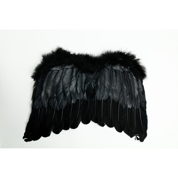 【コスプレ】 天使の羽 ブラックf00