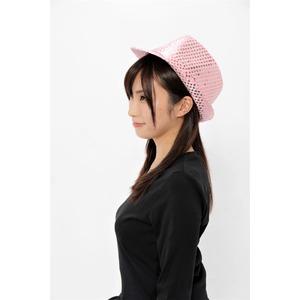 【コスプレ】 スパンコールハット ピンク f04