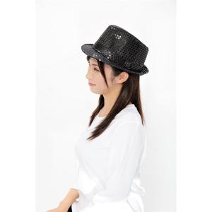 【コスプレ】 スパンコールハット ブラック f04
