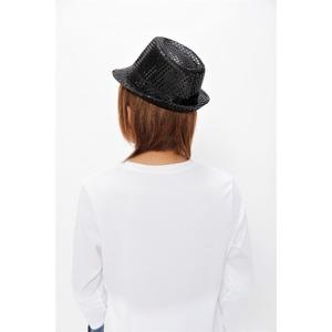 【コスプレ】 スパンコールハット ブラック f05