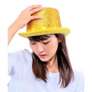 【パーティーグッズ】 DXシルクハット ゴールドの写真1