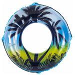 浮き輪 【100cm】 ブラックジャングル柄 塩化ビニール樹脂製 〔プール ビーチ 海外旅行〕の画像