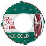 浮き輪 【90cm】 コカ・コーラ グリーン柄 塩化ビニール樹脂製 〔プール ビーチ 海外旅行〕の画像