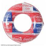 浮き輪 【100cm】 コカ・コーラ パターン柄 塩化ビニール樹脂製 〔プール ビーチ 海外旅行〕の画像