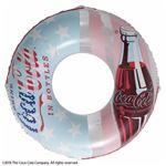 浮き輪 【120cm】 コカ・コーラ フラッグ柄 塩化ビニール樹脂製 〔プール ビーチ 海外旅行〕の画像