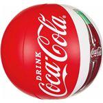 ビーチボール 【50cm】 コカ・コーラ コンツアーボトル柄 塩化ビニール樹脂製 〔プール ビーチ 海外旅行〕の画像