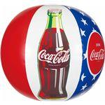 ビーチボール 【50cm】 コカ・コーラ スター柄 塩化ビニール樹脂製 〔プール ビーチ 海外旅行〕の画像