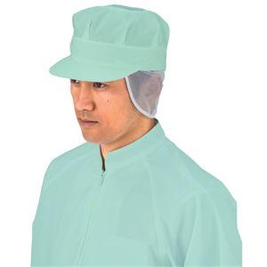 サカノ繊維 工場用白衣八角帽子 天・タレ細メッシュ SK57 グリーン LLサイズ