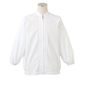 サカノ繊維 工場用白衣男女兼用 ラグラン袖 SKA260N ホワイト Mサイズ