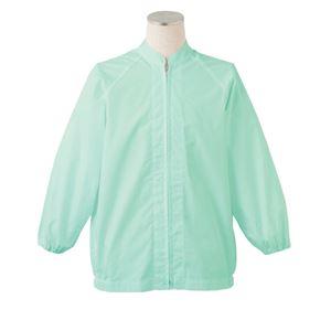 サカノ繊維 工場用白衣男女兼用 ラグラン袖 SKA260N グリーン Mサイズ