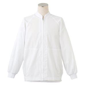 サカノ繊維 工場用白衣男女兼用 インナーネット付ラグラン袖 SKA290N ホワイト Sサイズ
