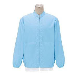 サカノ繊維 工場用白衣男女兼用 インナーネット付 SKA300 サックス 5Lサイズ