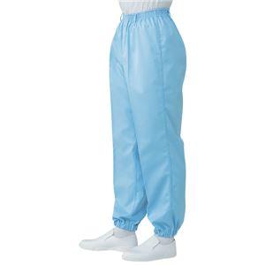 サカノ繊維 工場用白衣男子総ゴムトレパン ノータック 裾ゴム SKH112 サックス 3Lサイズ