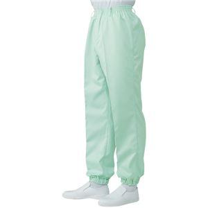 サカノ繊維 工場用白衣男子総ゴムトレパン ノータック 裾ゴム SKH112 グリーン 5Lサイズ