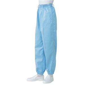 サカノ繊維 工場用白衣女子総ゴムトレパン ノータック 裾ゴム SKH113 サックス LLサイズ
