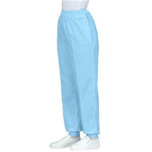 サカノ繊維 工場用白衣女子総ゴムトレパン ノータック 裾フライス インナーネット付 SKH220 サックス 4Lサイズ