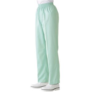 サカノ繊維 工場用白衣女子総ゴムトレパン ノータック インナーネット付 SKH230 グリーン Lサイズ