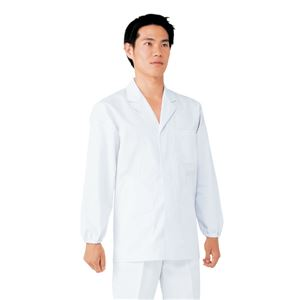 workfriend 調理用白衣男子衿付長袖 S...の商品画像