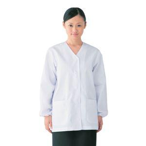 workfriend 調理用白衣女子衿無長袖 SKA330 Lサイズ