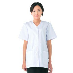 workfriend 調理用白衣女子衿無半袖 SKA332 LLサイズ