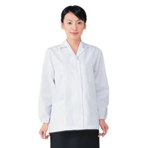 workfriend 調理用白衣女子衿付長袖 SKA335 LLサイズ