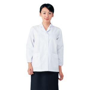 workfriend 調理用白衣女子丸衿付長袖 SKA325 Mサイズ