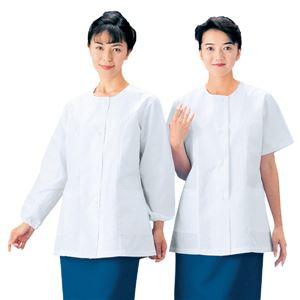 workfriend 調理用白衣女子衿無半袖 SKA334 LLサイズ