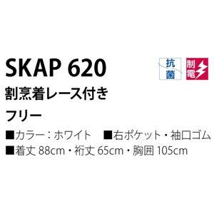 workfriend 割烹着レース付 SKAP620 フリーサイズ