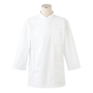 ケーシー型白衣/診察衣 【男子用 八分袖/4Lサイズ】 抗菌 制電 メンズ フロントファスナー 胸ポケット・腰ポケット
