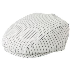 ストライプハンチング帽子ホワイトKMCH2961-21