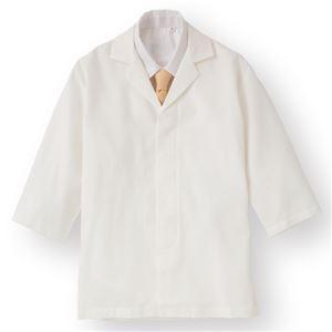 ワッフル白衣七分袖 ホワイト KMH2741-1 Lサイズ