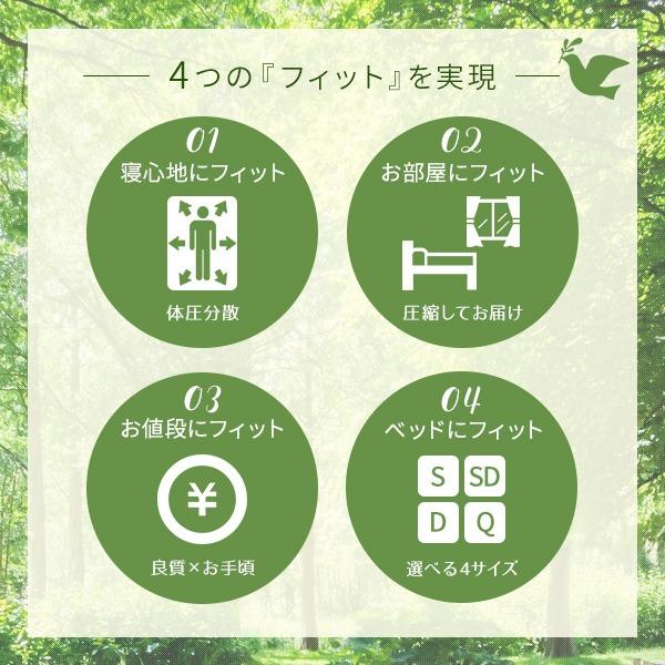 4つの「フィット」を実現!ポケットコイルマットレス シングル S 『 フィットスリーパー -理想的な寝姿勢をサポート-』 ホワイト 白 【1年保証】