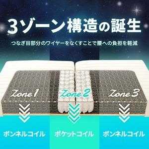 3ゾーン構造 脚付きマットレスベッド 脚15cm セミダブル ポケットコイル使用 『スリープゾーン』 ブラウン 分割式 【1年保証】