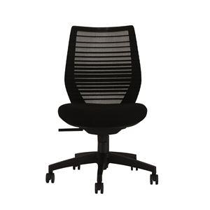 座面昇降式オフィスチェア/デスクチェア 【肘なし×ブラック】 メッシュ素材 リクライニング キャスター付き 『ビートル』 - 拡大画像