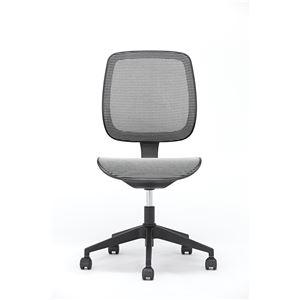 座面昇降式オフィスチェア/デスクチェア 【メッシュ素材×ホワイト】 キャスター付き 『ブリーズ』