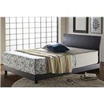 床高2段階調整可 曲線が美しい すのこベッド セミダブル (フレームのみ) ダークブラウン 『Caldina』 ベッドフレーム