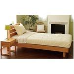 宮付き 二口コンセント付き アルダー材 すのこベッド セミダブル (フレームのみ) ナチュラル 『Secta』 ベッドフレーム