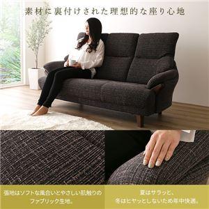背もたれハイバックソファ 【2人掛け/コーヒー】 ファブリック