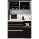 【開梱設置費込】食器棚 TRシリーズ 120cm幅 ダイニングボード キッチンボード 黒木目 ハイグロス 【日本製】