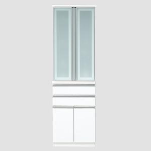 【開梱設置費込】食器棚 RNシリーズ 60cm幅 ダイニングボード キッチンボード 白木目 ハイグロス 【日本製】 - 拡大画像